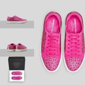 Kenneth Cole Kam Swarovski Crystal Suede Sneaker